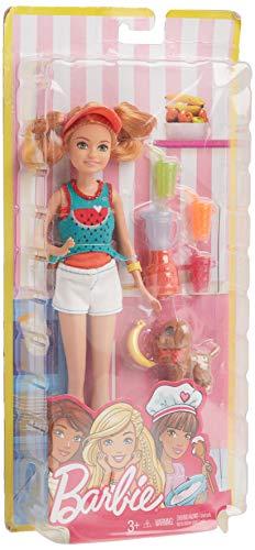 Barbie- Stacie Doll with Juice & Puppy Muñeca Hermana, Multicolor (Mattel FHP63) , color/modelo surtido
