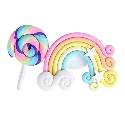 Désodorisant parfum solide voiture de coiffure Lollipop et Rainbow sortie d'air Ornement parfum automatique Accessoires de voiture