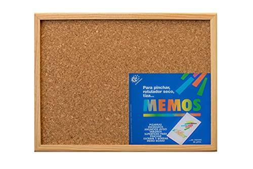 Tablero de corcho con marco de madera (40X60) - Tablón de anuncios y notas