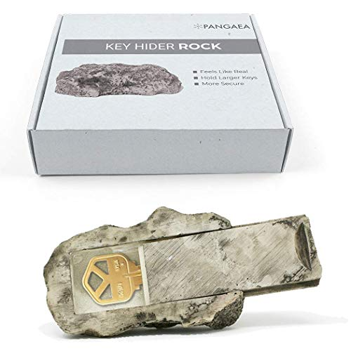 New Design, Hide-a-Spare-Key Fake Rock, Resealable Bag for Moisture Protection, Looks and Feels Like Real Stone, Diversion Safe for Outdoor Garden or Yard, Stash Safe, Geocaching (Type-A, 1 Pack)