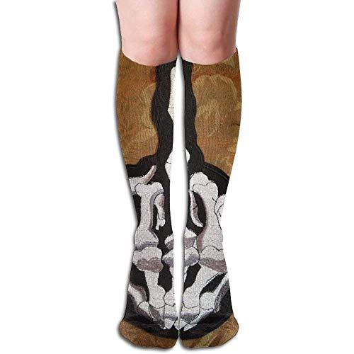 wwoman Tube Chaussettes Keen High Skate Skull Chaussettes de compression à doigt moyen Chaussettes longues de sport