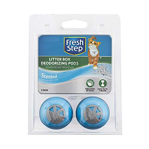Fresh Step Cat Litter Box Deodorizing Pods In Fresh Scent | Cat Deodorizer Pods for Litter Box | Great Way to Eliminate Cat Odors From the Home - 2 Count