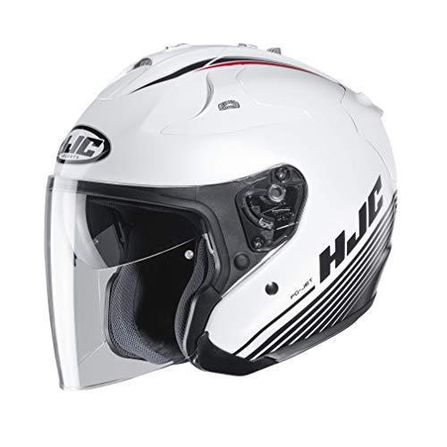Casco moto HJC FG-JET PATON MC10, Bianco/Nero, S