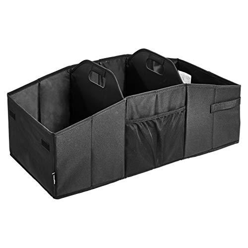 AmazonBasics - Organizador de maletero para coches, todocaminos y camiones - Negro