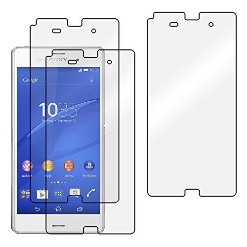 ebestStar - Pack x3 Protector Pantalla Compatible con Sony Xperia Z3 D6603 Películas Flexibles Anti Huellas Anti arañazos, Instalacion Sin-Burbujas [Aparato: 146 x 72 x 7.3mm, 5.2'']