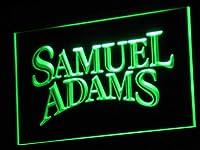 Samuel Adams American Brewing LED看板 ネオンサイン ライト 電飾 広告用標識 W60cm x H40cm グリーン