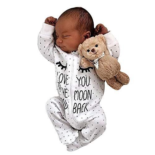 Battnot Baby Jungen Mädchen Bekleidungssets Strampler mit Kapuze Unisex Neugeborenes Langarm Reißverschluss Punkt Druck Jumpsuit Overall Pyjama Outfits Spielanzug, 0-24 Monate Baby Boys Kleidung Sets