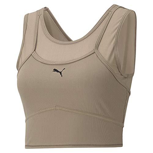 PUMA Studio Layered Crop Top Camiseta De Tirantes, Mujer, Amphora, XL