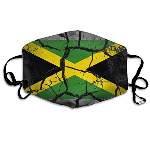 Verstellbarer Gesichtsschal, Jamaica Flag Painted Cracked Unisex Cover Warmes Tuch
