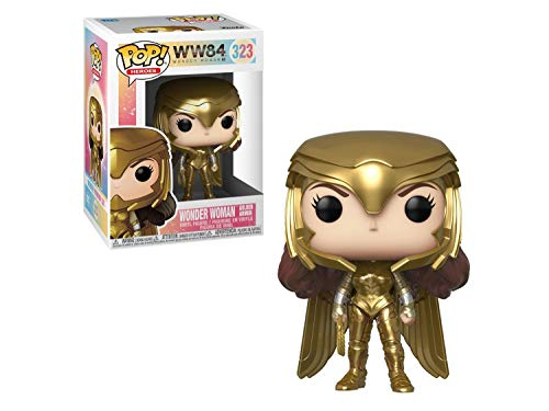 Funko Pop! Movies: Wonder Woman 1984 - Wonder Woman Gold Power (Metallic), Multicolor, (Model: 46658)