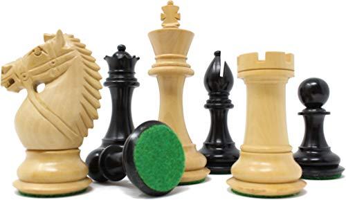 チェスジャパン チェス駒 オーソリティ 104mm 収納箱付属 (エボナイズ)