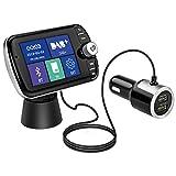 Geosta DAB+ Autoradio Adapter, Bluetooth FM Transmitter mit 2,4 'LCD-Bildschirm, Dual USB Anschlüsse DAB Digital Radio QC3.0 Tragbare KFZ Ladegerät mit TF-Karten/Aux/Bluetooth-Musik Spielen