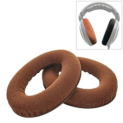 H-HX hoofdtelefoon oorkussen oorkussen 2ST voor Sennheiser HD515 / HD555 / HD595 / HD598 / HD558 / PC360 flanel hoofdtelefoon kussensloop Earmuffs reserveoorkussen met Tone Tuning Cotton (zwart), bruin