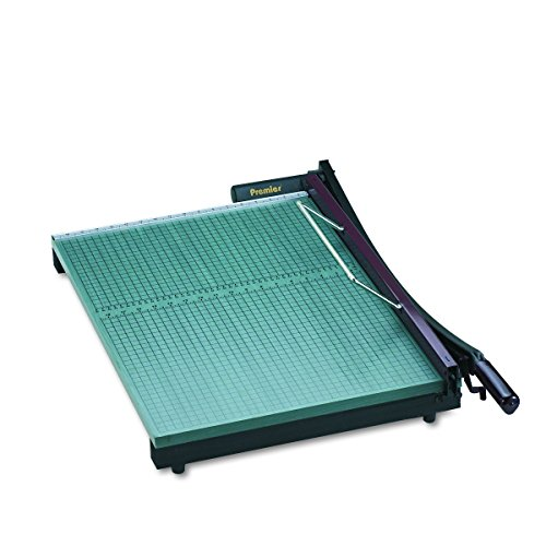 Martin Yale 724 Premier StackCut Heavy-Duty Paper Trimmer, Table Size 18-1/2' x 24', Permanent 1/2' Grid and Dual English and Metric Rulers, Ergonomic Soft-grip Handle