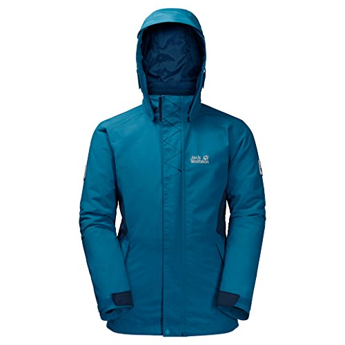 Jack Wolfskin Girls Polar Wolf 3in1 Jacket, 116 Kinder, Dark Turquoise