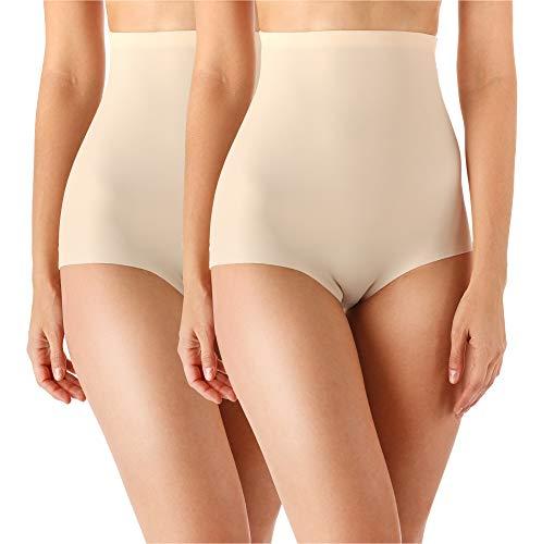 Bellivalini Slip Modellanti Corpo Donna BLVB1G101 (Beige (2Pack), S)