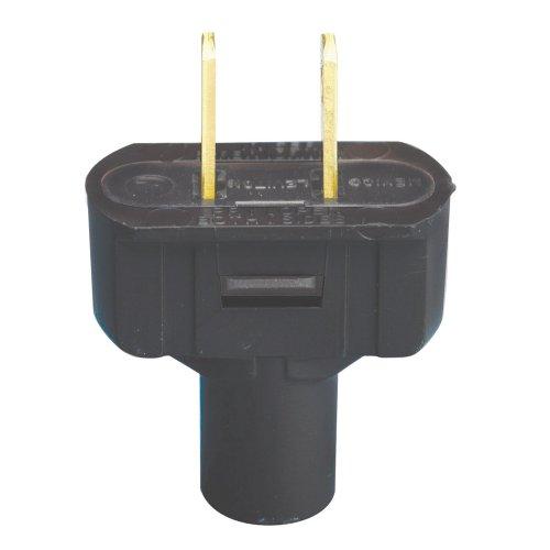 Leviton 48643-E 15 Amp, 125 Volt, Non Grounding Plug, Black