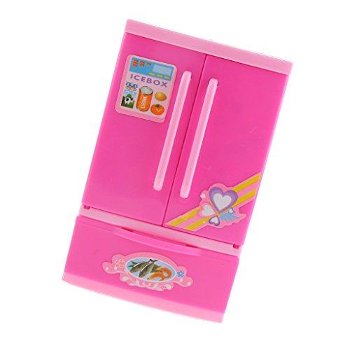 Sharplace Miniatur Kühlschrank Batteriebetrieb Spielzeug für Kinder Rollenspiel Zubehör - 7,1x11,7x5,7cm