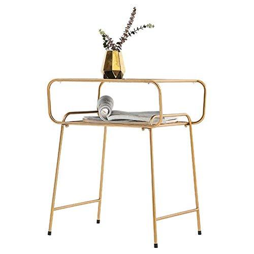 Mesa moderna minimalista Mesa de mesita de noche Revista Rack Bookshelf Mesa de noche Nordic Modern Modern Minimalist Cafetería y cafetera Lateral de la mesa de la mesa (Tamaño: 604637cm) leilims