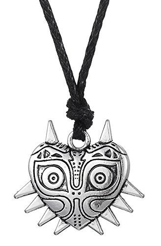 Dawapara Inspirada Majora Mask The Legend of Zelda Collar con colgante de máscara pagana Wiccan Máscara para hombres y mujeres