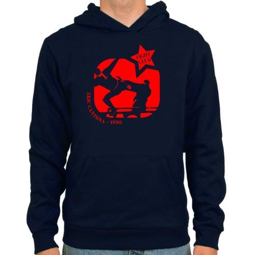 SpielRaum Hoodie Eric Cantona | Fightclub ::: Farbe: Navy ::: Größen: S-XXL ::: Fußball-Kult