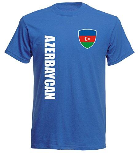 aprom Aserbaidschan T-Shirt TS-10 royal Trikot (L)