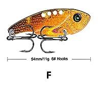1ピースの金属製のビブ釣りルアー11g / 5.4cmの鮮やかな振動スプーンスピナースピナーisca isca人工的な餌ベースの蝉のcrankbait vib tackle (色 : 06)