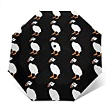 Puffin Bird - Parasol automático de tres pliegues para sombrilla