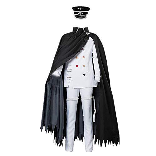 CHANGL 6 PCS/Set Cosplay Costume Halloween Carnaval Danganronpa V3 Ouma Kokichi Quotidien Décontracté Japonais Lycée Uniforme Costumes avec Accessoires Facultatif Perruque Haute Qualité