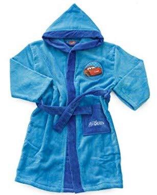 Albornoz con capucha original Disney Cars años 2 3 4 5 6 7 8 9 100 % rizo chenilla puro algodón para niño (años 6/7).
