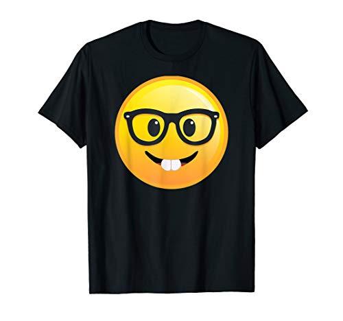 Nerd Welt Emoji Tag mit Brille Smiley T-Shirt