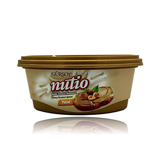 Gürsoy | nutio | Haselnuss Milch Creme | 25% Haselnussanteil | Brotaufstrich | Gluten FREI | Ohne GENtechnik | Vegetarisch | 400 g