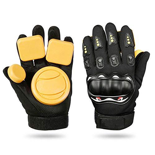 TRF Skateboard-Handschuhe, Longboard Brems Handschuhe mit Sliders - Wrap-Around-Bügel, Anti-Vibrations-Schaum - Downhill Slide Handschuhe für Skate, Roller- und Skating-