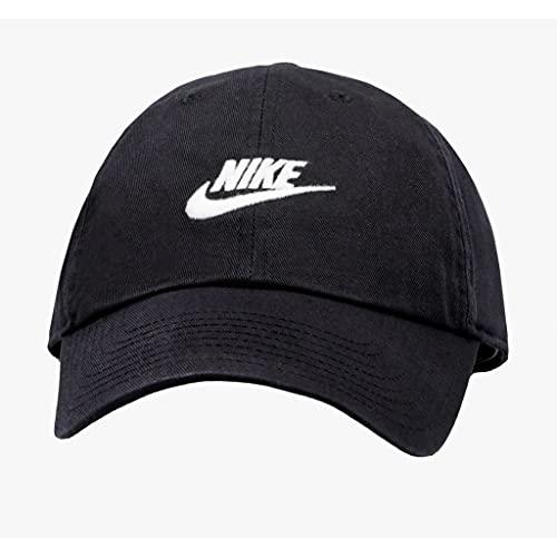 NIKE Sportswear Unisex H86 Futura Cap, Black/Black/White, One Size