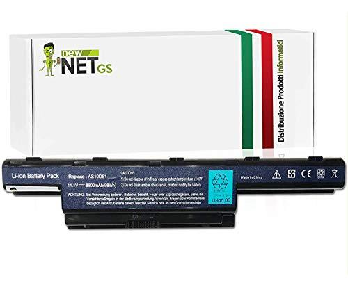 AS10D51AS10D31batería para PACKARD BELL EASYNOTE Le/LM/LS/NM/NS/TK/TM/TS/TSX–AS10D41AS10D61–Compatible con ASPIRE 4250Series 425242534253G–Acer Aspire 4551G,...