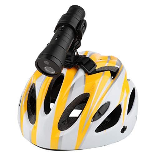 Casco Action DV Video Cam, Mini cámara Full HD 720p Bicicleta de montaña, Casco de motocicleta Cámara de acción deportiva Video DV, 8 luces LED integradas con linterna, Batería de larga duración