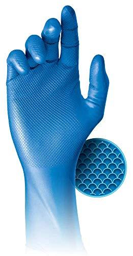 48 Packung Grippaz® 308 Puderfreie Einweghandschuhe aus Nitril, blau, extra stark und geschickt, X groß (XL)