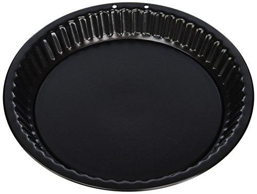 Mauviel 710924 Moule à tarte amovible, Cuivre intérieur étamé, Noir, 24 cm