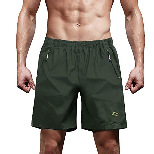 Quick Dry Shorts for Men Hiking Shorts Running Shorts Performance Shorts Climbing Shorts Camping Shorts for Men Olive