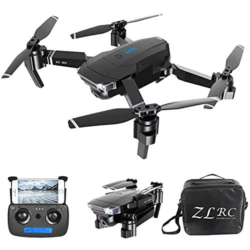 DCLINA Drone con Doppia Fotocamera - Fotocamera Anteriore 4K HD e Fotocamera Inferiore Posizionamento del Flusso Ottico Drone Pieghevole Gesto Foto/Video Seguimi con la Borsa