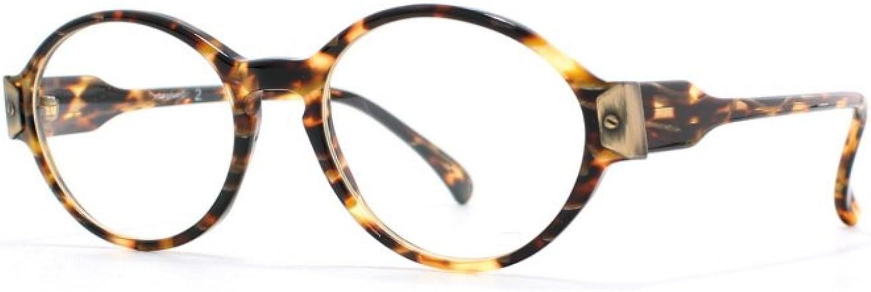 Elce Twenty2 697 Yellow and Brown Authentic Women Vintage Eyeglasses Frame