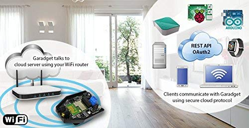 Garadget WiFi Smart Garage Door Controller - Control Existing Garage Door with Free iOS/Android App,...