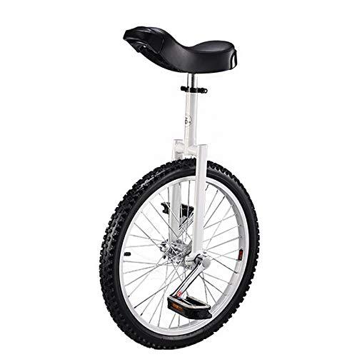 Einrad 20 Zoll Mit Alu-Stahlfelgen Höhenverstellbar, Uni Cycle, Einrad Für Männer Frau Teenager Jungen Reiter, Bestes Geburtstagsgeschenk,Weiß