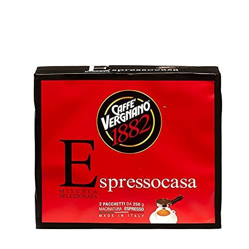 Caffè Vergnano 1882 Caffè Macinato Espressocasa - 8 confezioni da 500 gr (totale 4 Kg)