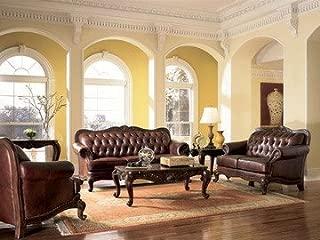 Coaster Victiora 3 Pce Tri Tone Leather Set Sofa Loveseat Chair
