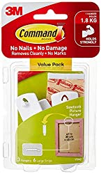 Command 17042VP Sawtooth Picture Hanger Value Pack, Large, White