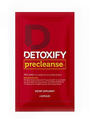 Detoxify – PreCleanse Herbal Supplement – 6 Capsules – Professionally Formulated PreCleanse Herbal Supplement – Perfect Start to Your Cleansing Program by Detoxify