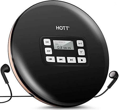 HOTT Tragbarer Bluetooth 5.0 CD Player mit LED-Anzeige,persnliche CD-Musik-Disc-Player fur Kinder Studenten Erwachsene Bluetooth Walkman-CD-Player