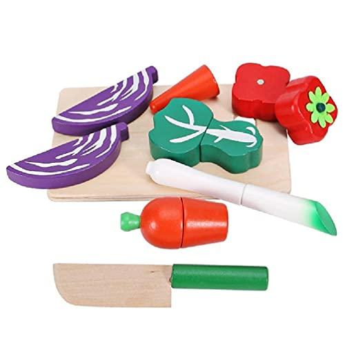 Juguete de cocina Simulación Juguete de cocina Modelo Vegetal Fruta Magnética Puzzle Board Interactivo Montessori Forma Match Juego simulación cocina juguete spray agua vajilla niños juguetes niños