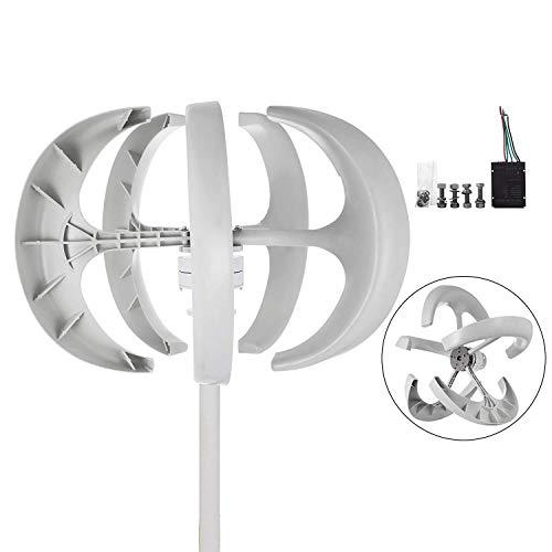 Buoqua windgenerator 400 watt Wind Generator 24v Wind Turbine Generator 5 Blätter Weiße Laterne Vertikal Windgenerator mit Controller